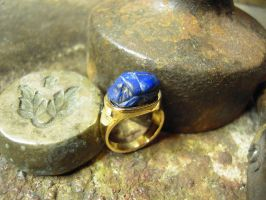 egyptian scarab ring by Debals
