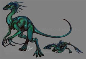 Extraterrestrial Saurian 3 by ZaidaCrescent