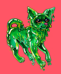 slime doggy by Tessukoira