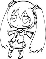 Free to Color Miku by neooki23