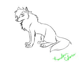 Male Wolf Coloring Page by RoseDark-SilverWolf