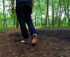 Barefoot forest walk 3 by PhilsPictures