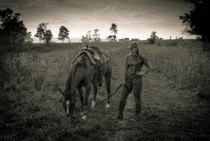 Brittany and Comanche by The-Satchmoe