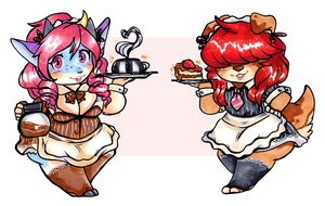 Cafe Maids At Your Serivce [Gift] by CritterKat