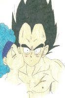 Bulma and Vegeta by TeenBulma