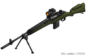 m14 sniper rifle by the-maker