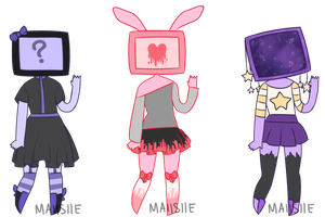 CLOSED: 15 - 17 [TV Head Adopts] by Maiisiie