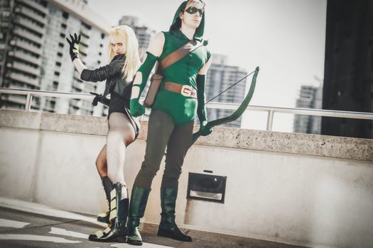 Black Canary + Green Arrow Cosplay by SovietMentality