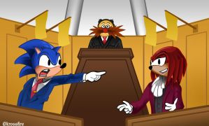 Sonic Hedgehog: Ace Attorney by Kroizat