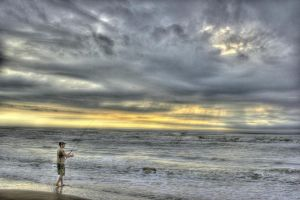 Albatroz Beach Sunrise HDR by insidegui