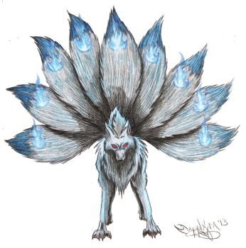 Realistic Ninetails by sapphire-blackrose