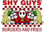 Shy Guys' Burgers and Fries by Hydra-Hunter