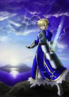 Fate Stay Night: Saber by karuma9