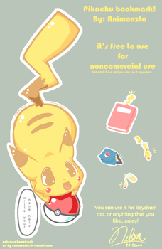 free pikachu bookmark etc by animonzta