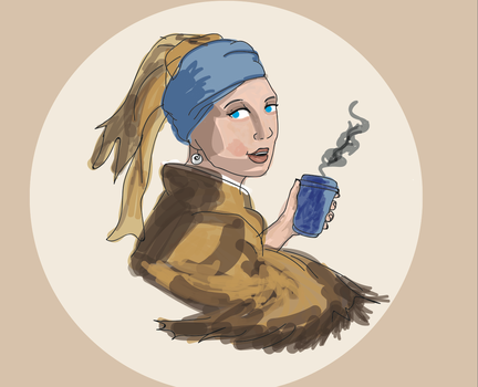 Girl With a Coffee by TheFriendlyAsassin