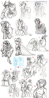 huge pony sketch compliation by cihiiro