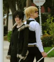 Izaya and Shizuo by blairxblitz
