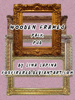 Wooden Frames PSD by FoxFireRed