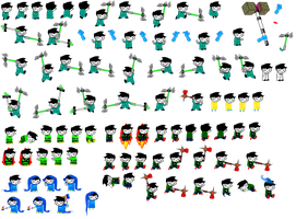 John Sprite Sheet part 1 by blahjerry