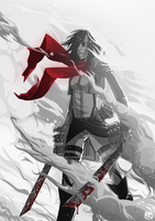 1: Mikasa by Helixel