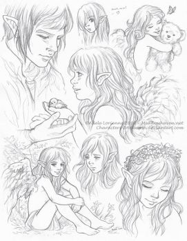 Sketchpage Commission -Elerus by Saimain