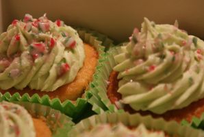 Candy cane cupcakes 2 by PiggySpig22