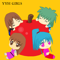 YYH Chibi Girls by perl7789