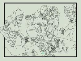 Tis only a game collab linework rough by imric1251
