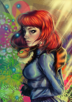Nausicaa plus speed painting test by MeryAlisonThompson