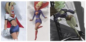 SupergirlSketches by artist2point5