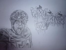 Ray Lewis Sketch by SilverbackInc