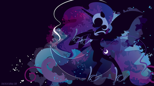 Nightmare Moon Silhouette Wall by SambaNeko