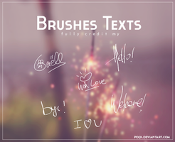 {Brushes Texts} by Poqi