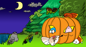 CotW15 - pumpkin party by Master-Kankuro