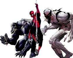 Venom, Anti-Venom, Spidey by valsomir