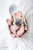 cute baby tattooed by Zozzy-evil