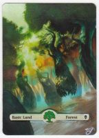 MTG Card Alter - Basic Land, Forest (4) by InVenatrix