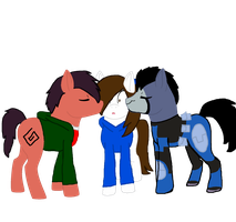 MLP Danny, Randy and Rook! [Love Tringale] by RubytheCat12