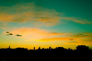 Sunset NYC III by dulcechokolate