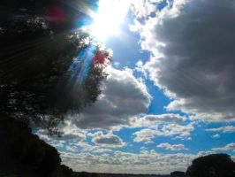 Sunrays Through Clouds by abyss2213