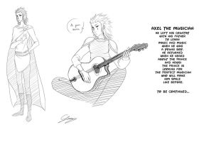 Axel the musician by x-Lilou-chan-x