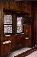 Castle window III - Ht Koenigsbourg by Grinmir-stock