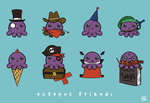 Octopus Friends by morebodyparts