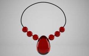 Blood Gem Necklace by Sola-King