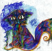 Trippy Kitty by SuperRibbonGirl