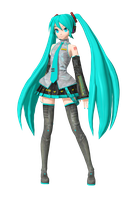 DT1st: Default Miku by SoundlessLuka by Tuni-kun