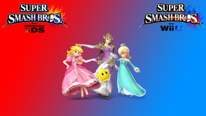 SSB Wii U 3DS - Princesses Laptop Wallpaper by Major-Link