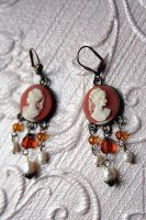 Brass Renaissance and Baroque Vintage Earrings by Johanna-Ferrius
