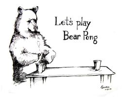 Bear Pong by YLimes