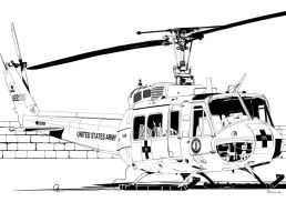 Bell UH-1 Iroquois 'Huey' by bowdenja